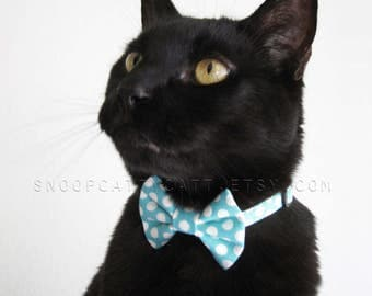 Cat Bow Tie - Blue Skies