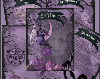 Halloween SAMHAIN SABBAT Ritual Spell, Digital Download, Wicca, Book of Shadows, Ritual, Spell,Pagan, White Magick, Wicca , Witchcraft