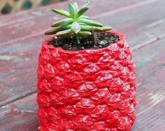 Red Pineapple Planter / Vase