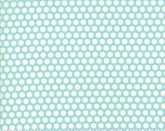 Bonnie and Camille BASICS Bliss Dot Aqua 55023 32 Moda Fabric, Sold by the Half Yard