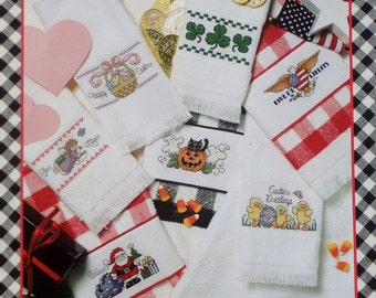 Good Natured Girls HOLIDAY TOWELS Counted Cross Stitch Booklet (Multiple Designs)