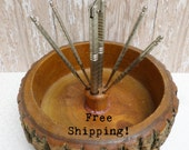 Nut Bowl with Cracker and Picks Vintage Free Shipping!
