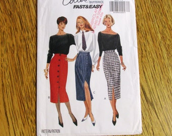 CLASSIC High Waisted Pencil Skirt / Glamorous Tapered Skirt  (Fast & EASY) - Size (6 - 8 - 10) - UNCUT Sewing Pattern Butterick 6418