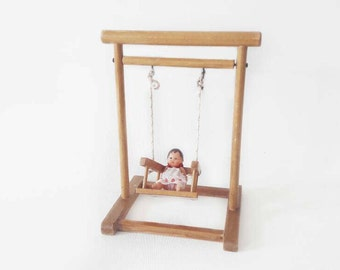 Vintage Wooden Doll Swing