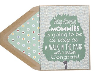A Walk In The Park - Mother's Day Card, New Mom, Gay with Kids, Lesbian, LGBT, for her, wife, girlfriend, same sex