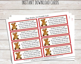 Magic Reindeer Food Poem - Printable Tags for Christmas Favors - Instant Download
