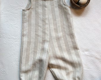 Linen Jumpsuit, Linen Coveralls, Children's Jumpsuit, Linen Romper, Striped Linen Jumpsuit, Gender Neutral Jumpsuit, Handmade Linen Jumpsuit