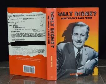 Walt Disney Hollywood's Dark Prince - Undercover FBI Agent / Anti-Semite - Exposé / Secret Life - Vintage Harcover + Dust Jacket