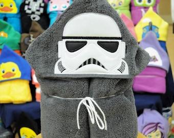 Glow in the dark Galaxy Fighter hooded towel