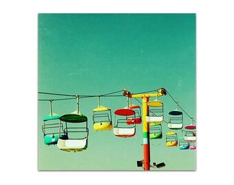 large art print // colorful modern // large art  // summer outdoors large modern santa cruz photography colorful art print - Summer of 67