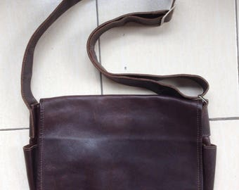 Leather Messenger Bag, Laptop Bag, Made in USA