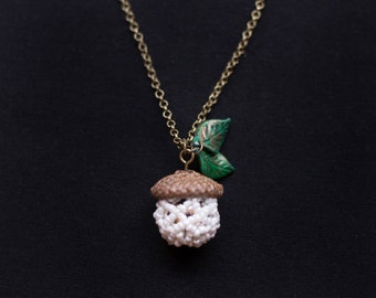 Acorn Necklace Real Acorn Cap Necklace Forest Fairy Necklace Acorn Jewelry Woodland Fairy Necklace Fairy Jewelry Acorn Pendant Necklace