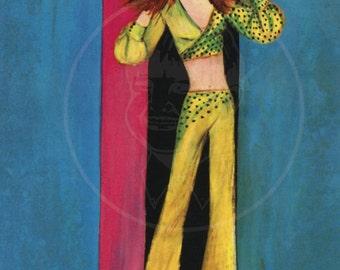 Groovy Art (007) - 10x15 Giclée Canvas Print of a Vintage Postcard