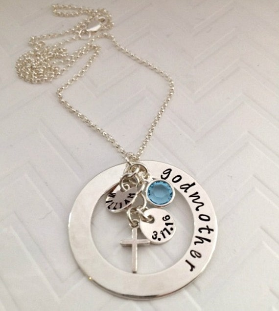 Godmother Gifts - Personalized Godmother Necklace - Custom Religious Gifts -Unique Christmas Gifts- Baptism Gift ideas -The Charmed Wife