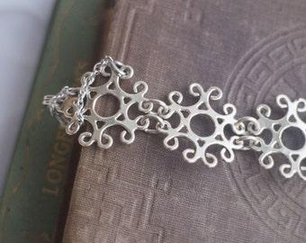 Snowflake Filigree Sterling Silver Bracelet
