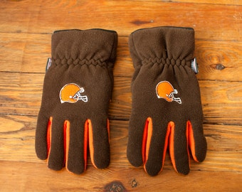 90s Cleveland BROWNS Football Winter Gloves
