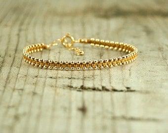 Friendship bracelet Gold,dainty bracelet,handmade beaded bracelets,stack bracelets,trendy jewelry,bracelet for her,thin gold bracelet