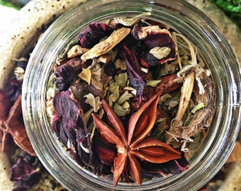 SULTRY TEMPTRESS Herbal Spell Blend - Inner Goddess Collection, Magick, Witchcraft, Ritual