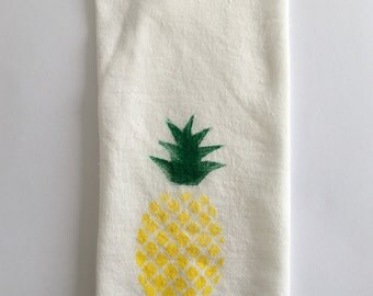 Mini Pineapple tea towel-Pineapple Napkin-Linen-Napkin- Pineapples-House Warming Gift- Napkin sets- Hawaiian Napkins- House Gift- Tropical