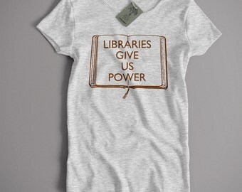 Inspired by The Manic Street Preachers T Shirt - Libraries Give Us Power Small-5XL and Lady Fit Sizes Available Britpop Bookshops Rock
