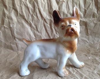 80s Japanese Ceramic French Bulldog Knickknack Figurine