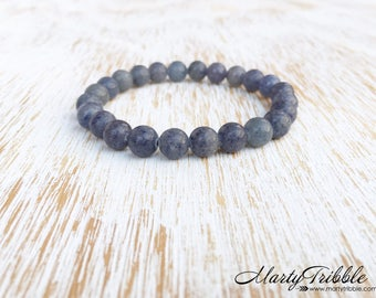 Aventurine Bracelet, Minimalist Gemstone Bracelet, Blue Stone Bracelet, Simple Jewelry, Beaded Bracelet, Healing Bracelet, Energy Bracelet