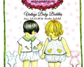Bubbles Pattern / Vintage Baby Bubbles / Boys & Girls Patterns / Marcelo / Mirella / Embroidery/ Petite Poche / Wendy Schoen