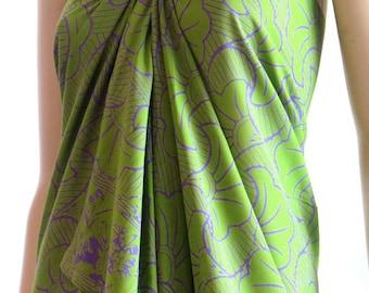 Green Batik Sarong, Beach Sarong, Pareo