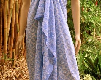 Blue Sarong, Wrap, Pareo