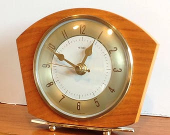 Vintage Metamec Clock - 1960's Recycled Metamec - Mantel Shelf Clock