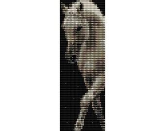 Horse 4 Loom Bead Pattern, Bracelet Pattern, Bookmark Pattern, Seed Beading Pattern Miyuki Delica Size 11 Beads - PDF Instant Download