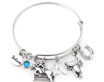 Equestrian Bracelet, Equestrian Gifts, Horse Bracelet, Horse Gifts, Horse Gifts for Girls, Equestrian Jewelry, Horse Jumping Bracelet