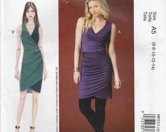 Sleeveless Dress Pattern McCalls 7504 MP251 Sizes 6-14 Uncut