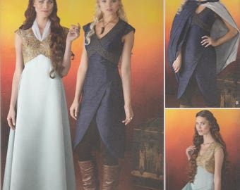 Game of Thrones Costume Pattern Simplicity 1246 Sizes 14 - 22 Uncut