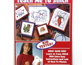 Cross Stitch Patterns, Teach Me To Stitch, 15 Childrens Cross Stitch Patterns, How To, Leisure Arts, Unicorns, Dinosaurs, Teddy Bears