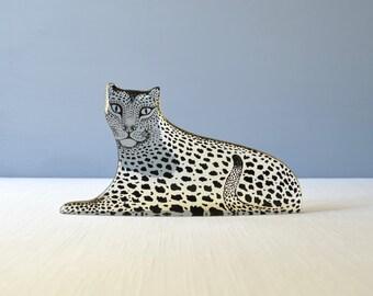 Vintage Large Abraham Palatnik Lucite Leopard - Jungle Cat Figurine