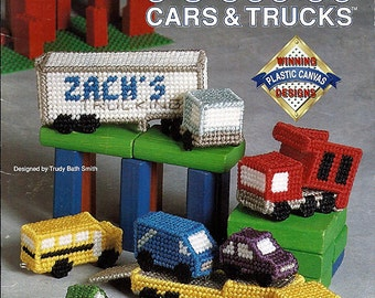 Mini Cars & Trucks Plastic Canvas Pattern  Book The Needlecraft Shop 913709