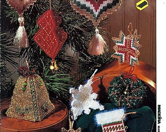 Holiday Ornaments Plastic Canvas Pattern Book Madera Marketing Ltd book 6207