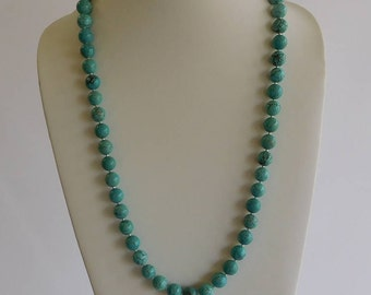 Long Turqouise Beaded Ncklace