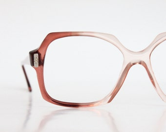 Vintage 70's Cinnamon Fade Square AO Eyeglasses