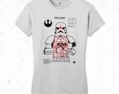 Star wars t-shirt stormtrooper shooting target - womens  shirt