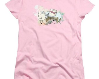 Nurse Marshmallow Women's TShirt - soft tee - 100% cotton - FREE US shipping