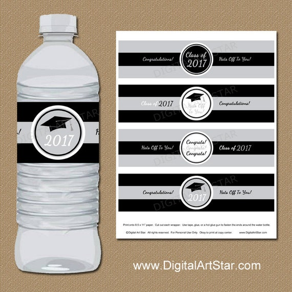 This is a picture of Irresistible Graduation Water Bottle Labels