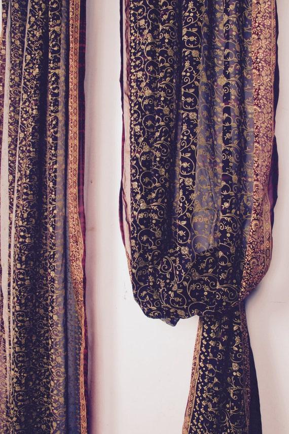 108l Eggplant Dark Purple Curtain Window Curtain Red