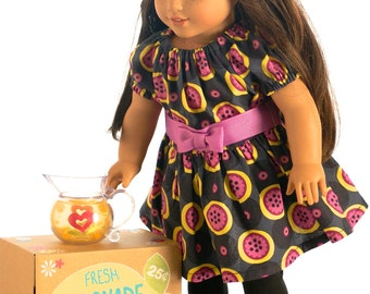 """Doll Clothes Girl American 18""""  Dress Tunic and Leggings Gray Purple Yellow Girl Christmas Gift Doll Outfit"""