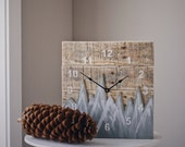 ORIGINAL Reclaimed Pallet Wood Wall Clock (MOUNTAIN EDITION)