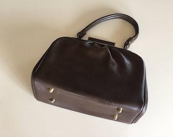 Vintage 60s Mod Brown Purse