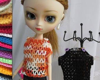 Pullip~ Custom- crocheted Sweater