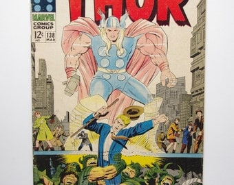 """The Mighty Thor Vol. 1 #138 """"The Flames of Battle"""" - F/G Condition - Marvel Comics 1967"""