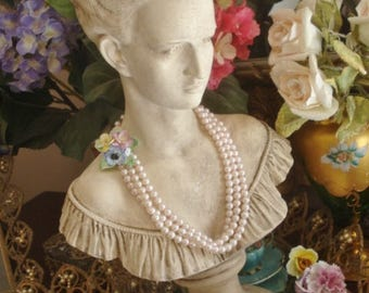 """Vintage Display Lady Bust Statue Classic Victorian Maiden XL 20"""""""
